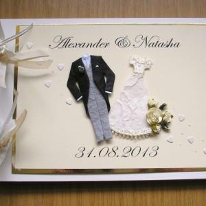 Guest book wedding attire ivory