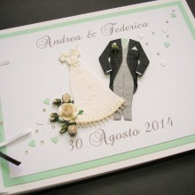 Guest book wedding attire mint