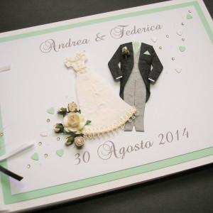 Guest book wedding attire mint