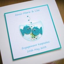 Keepsake box engagement fish bowl couple
