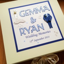 Keepsake box wedding attire & names