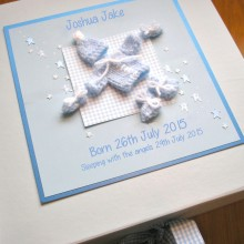 Keepsake box baby memorial knitted outfit
