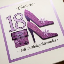 Keepsake box childrens number stilettos and gift
