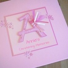 Keepsake box christening any initial letter