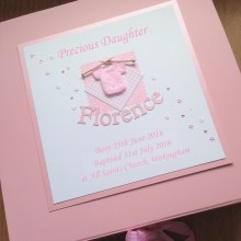 Keepsake box christening knitted jumper & name