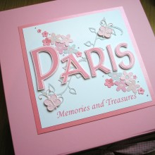 Keepsake box christening name daisies & butterflies