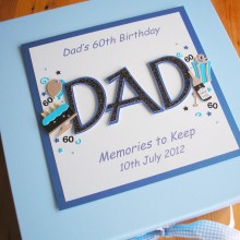 Keepsake box mens name & birthday decorations Dad