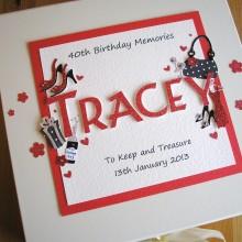 Keepsake box womens name with birthday decorations