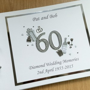 Guest book anniversary decorated number diamond