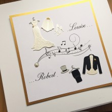 Keepsake box wedding attire with music