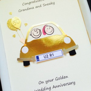 Anniversary car gold
