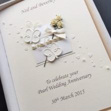 Anniversary flowers & butterflies pearl