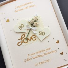 Anniversary flowers & hearts cream with numbers