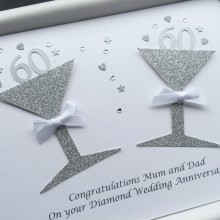 Anniversary glitter glasses diamond with large numbers