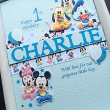 Childrens A5 name with baby Disney for boys