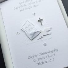 Christening bible in envelope white