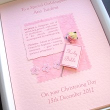 Christening definition with flower