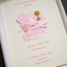 Communion bible in envelope with name