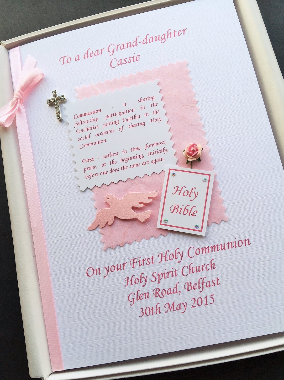 communion definition pink on white
