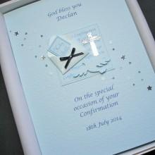Confirmation bible in envelope blue
