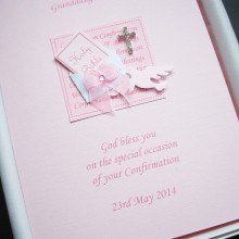 Confirmation bible in envelope pink without hearts