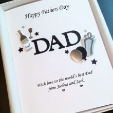 Fathers day A5 name with simple decoration