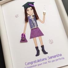 Graduation chocolate lady