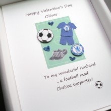 Valentines day any football team kit with hearts