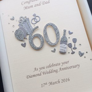Anniversary cut out number diamond on ivory