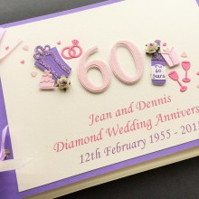 Guest book anniversary decorated number bespoke colours