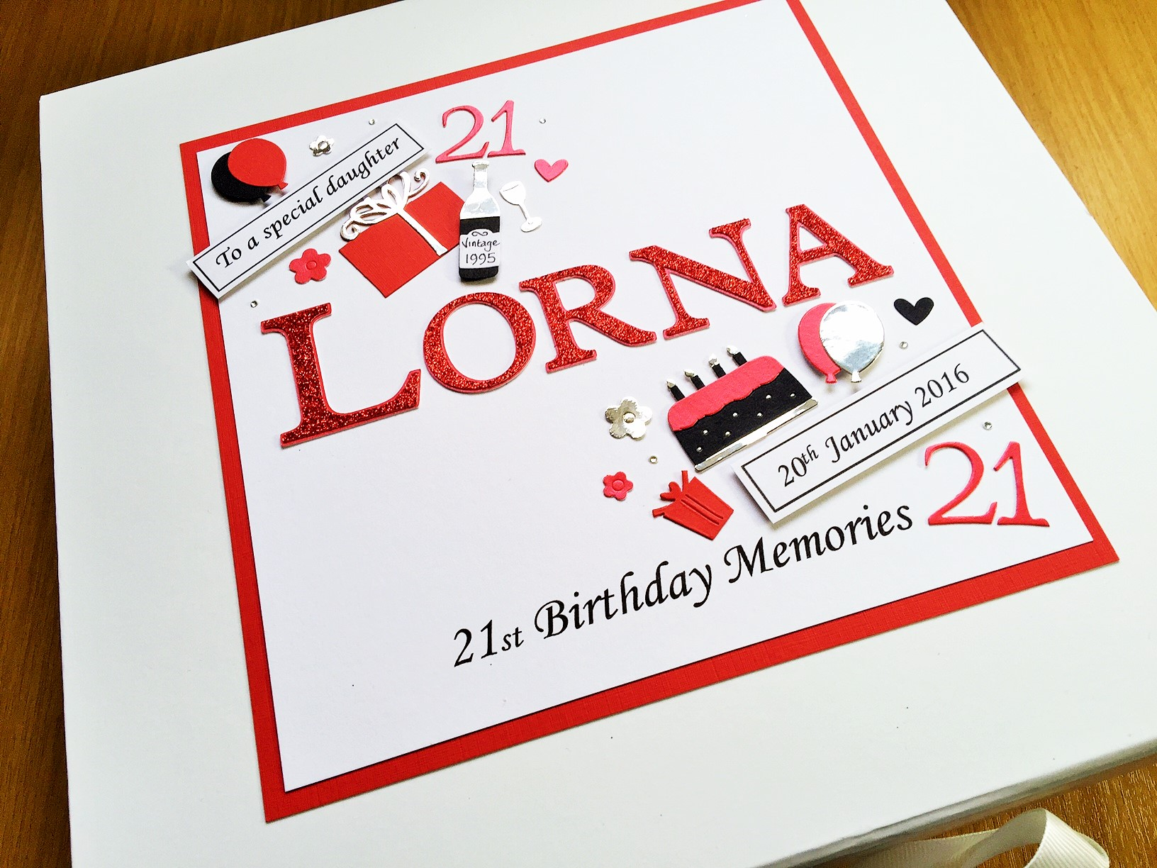 Keepsake Box Womens Name With Tag Messages Birthday Decorations