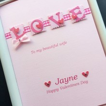 Valentines day love letters female pink