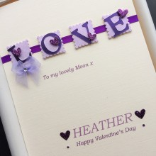 Valentines day love letters female purple