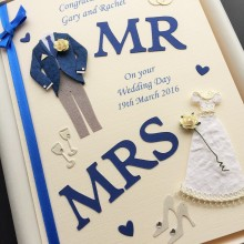 Wedding Mr & Mrs royal blue