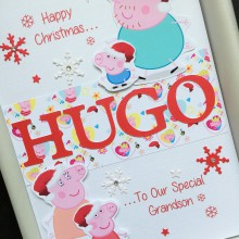 Christmas name and Peppa Pig theme