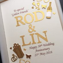 Anniversary two names with embellishments