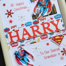 Christmas name and Superman theme