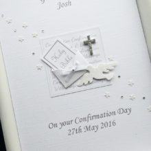 Confirmation bible in envelope white for boys