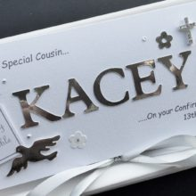 Confirmation cut out name for girls silver