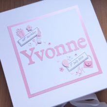 Keepsake box womens name with tag messages simple design