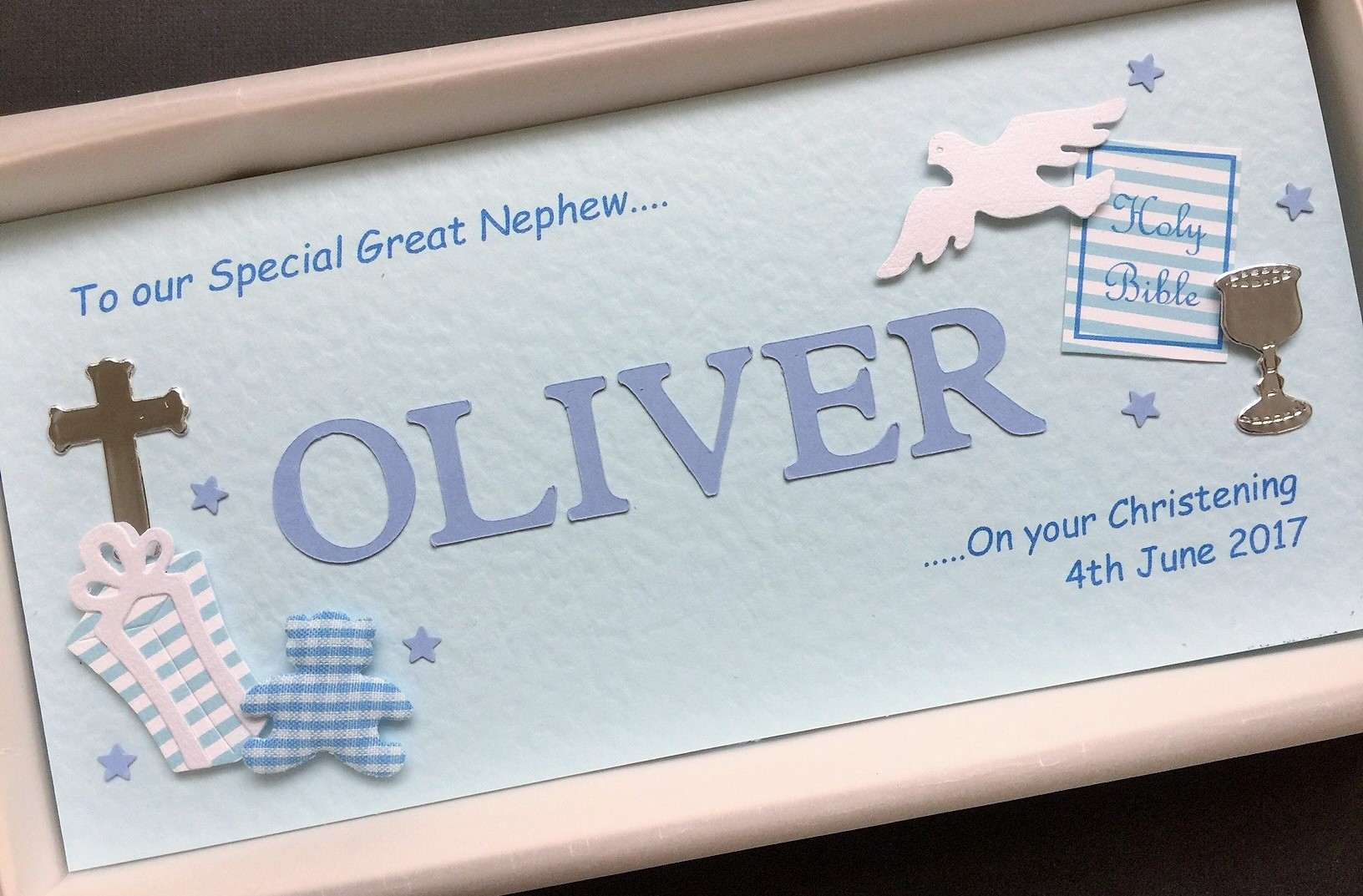 Christening cut out name for boys religious