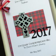 Confirmation Celtic crucifix Scottish