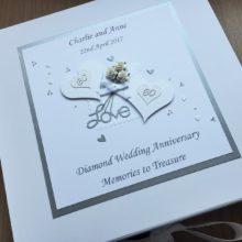Keepsake box anniversary flowers & glitter hearts