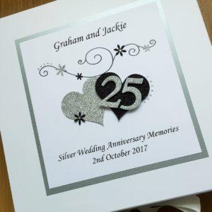 Keepsake box anniversary scrolls hearts & number