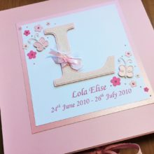 Keepsake box baby memorial any initial letter