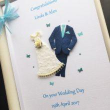 Wedding attire turquoise