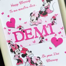 Womens A5 name with Disney Minnie Mouse