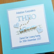 Keepsake box adoption small train & small name