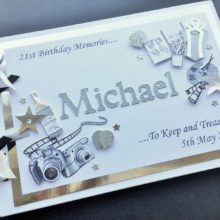 Album mens decorated name & hobbies