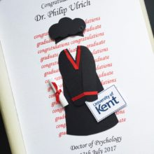 Graduation gown and Doctorate hat black robe
